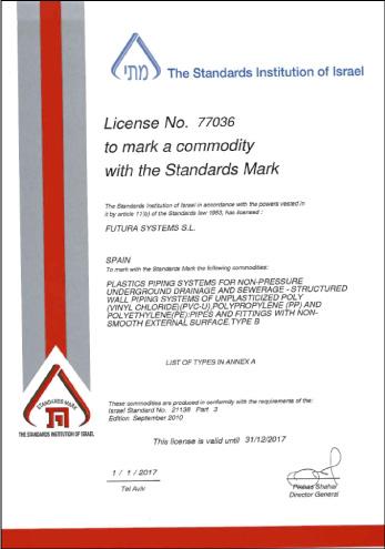 Certificado SII de Calidad de Producto MAGNUM SN4-SN8 y MEGAPIPE SN16